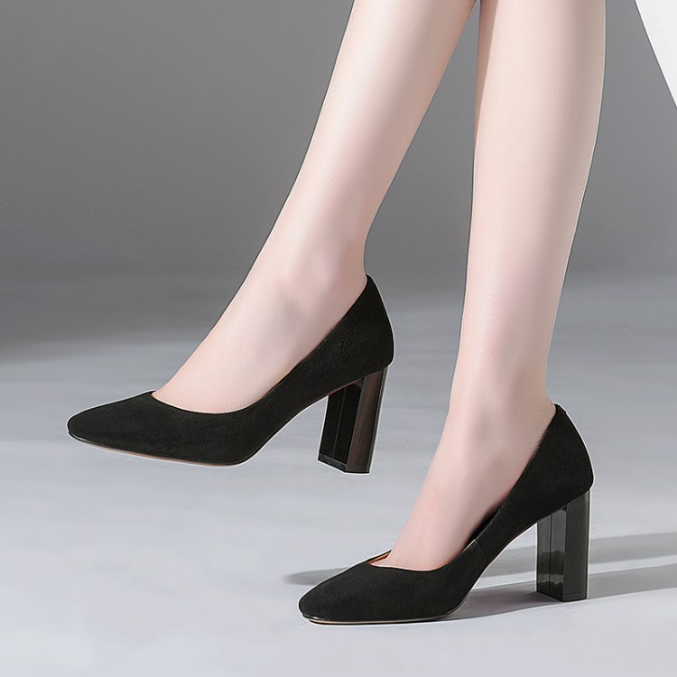 4ecceb26 Puntiagudo Moda Tallas Mujeres Pie Negro Tacón Grandes La 2018 Las Zapatos  Nuevos {zorssar} ...