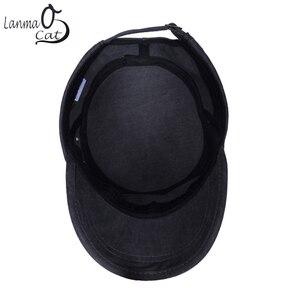 Image 2 - Chapéu do exército do vintage do algodão de lanmaocat chapéu do exército dos homens das mulheres personalizado chapéu superior liso boné de beisebol personalizado bonés do exército frete grátis