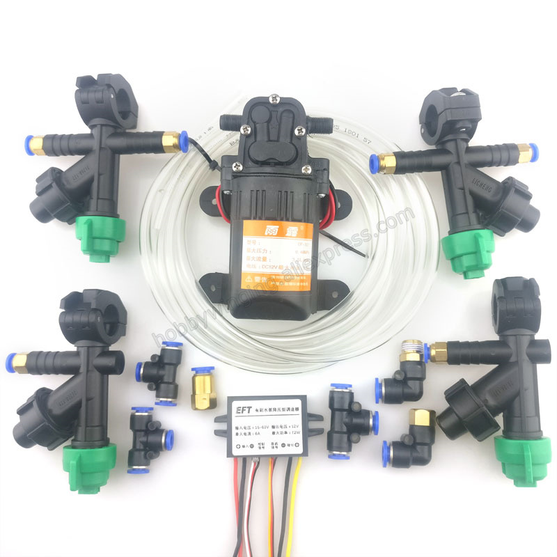 농업 스프레이 시스템 accs 노즐 + 워터 펌프 + 펌프 스텝 다운 거버너 + 파이프 콤보 내장 약물 감지 기능-에서부품 & 액세서리부터 완구 & 취미 의  그룹 1