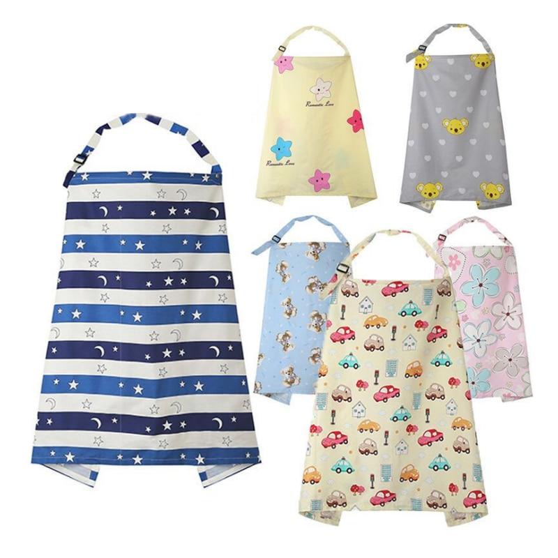 Breathable Baby Feeding Nursing Covers Mum Breastfeeding Nursing Poncho Cover Up Cotton Adjustable Neckline Cover