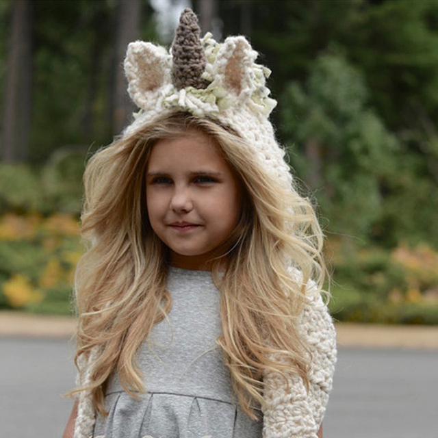 Unicorn hat with children scarf  / Sombrero unicornio con bufanda niños