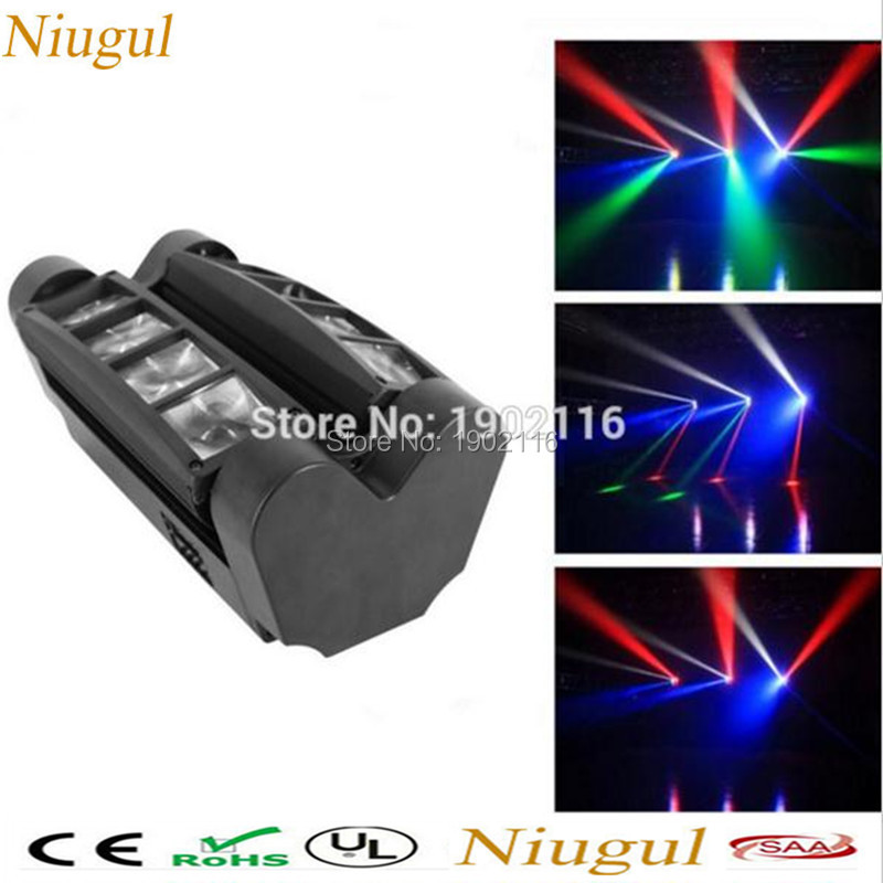 Free&Fast Shipping Mini Led Spider Light RGBW Led Party Light DJ DISCO ktv Lighting LED Beam Wash Lights Sound active LED lamp 10w rgbw mini led beam moving head light disco dj stage lighting dmx512 mini 10w led linear beam chandelier 10w wash beam lamps