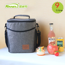 KinNet 2016 New Picnic Insulated Lunch Bag aluminum foil Ice Cooler Bag 9 Litre Portable Oxford Lunch Box Thermal Bags for Food