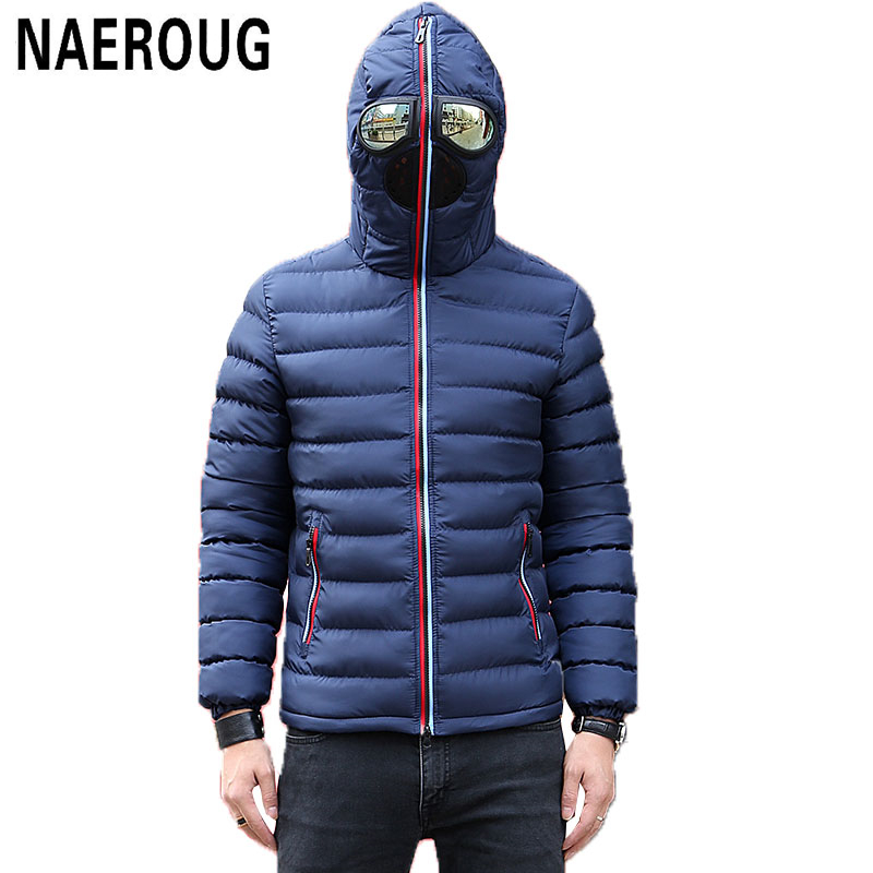 Подробнее о Men Winter Jackets Warm Parkas With Glasses Brand Coats Fashion Design Parka Hooded Male Windproof Thick Windbreaker Outwear winter jacket men coats thick warm casual fur collar winter windproof hooded outwear men outwear parkas brand new