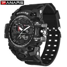Panars G стиль модные цифровые часы мужские спортивные часы армия военная Униформа наручные часы Erkek Saat шок сопротивление часы кварцевые часы