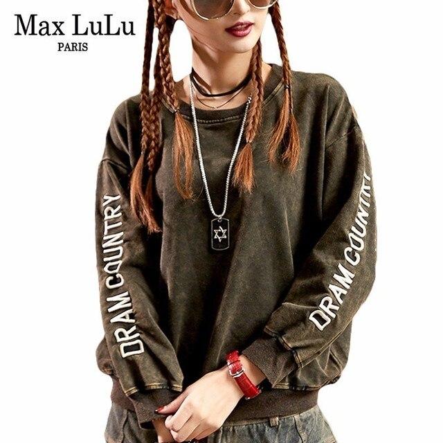 Max LuLu Luxury Vintage Japan Brand Girls Harajuku Hoodies Women Embroidery  Sweatshirt Loose Punk Woman Short