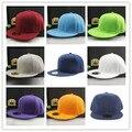 Colores Unisex Llanura Gorra de béisbol del Casquillo del snapback Hip-Hop Ajustable eaked Sombrero Visera