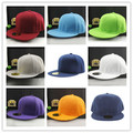 Snapback Cap Colors Unisex Plain Baseball Cap Hip-Hop Adjustable eaked Hat Visor