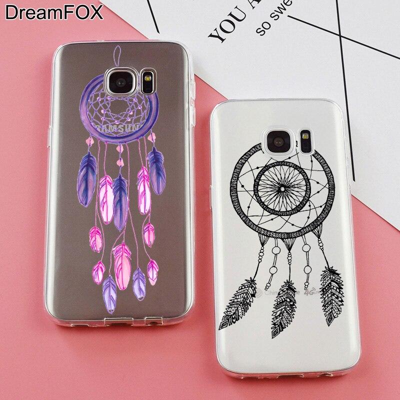 DREAM FOX K286 Dream Catcher Soft TPU Silicone Case Cover For Samsung Galaxy Note S 3 4 5 6 7 8 9 Edge Plus Grand Prime