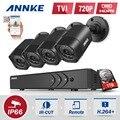 ANNKE 4CH HD 1080N DVR Kit 4pcs 1500TVL TVI CCTV Security Camera System Outdoor IR Day Night  Video Surveillance kit 1TB HDD
