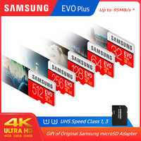 100% Original SAMSUNG micro sd 128gb EVO Plus Class10 U1 32GB U3 64GB 256GB 516GB speicher karte MicroSD für Smartphone TabletPC