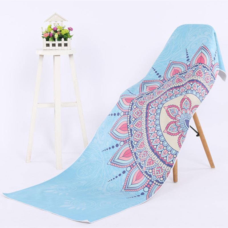Yoga Mat Towel Microfibe Yoga Blanket Yoga Towel 183*61cm Pilates Mat Cover Towels Fitness Exercise Travel Portable Beach Towel 2018 summer beach mat round mandala towel travel shawl blanket sarong beach cover wrap bandana round summer beach blanket