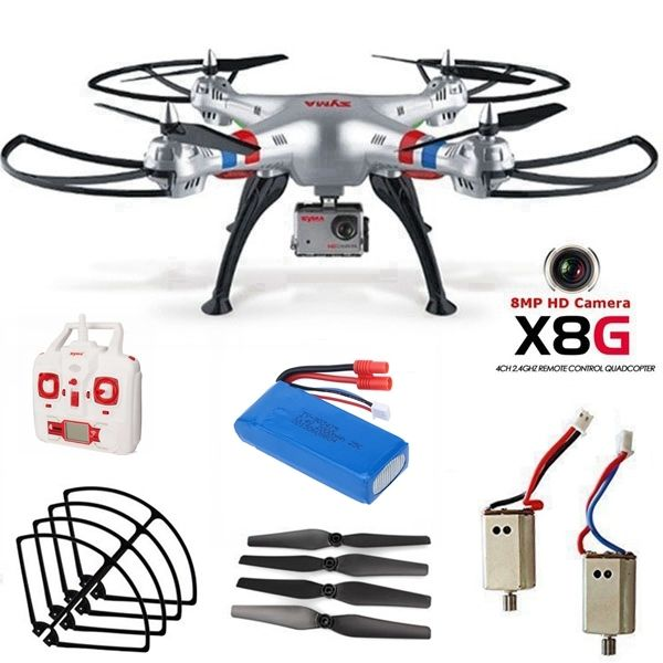 Free Shipping Syma X8G 2 4G 360 Degree 3D Flip RC Drone Quad 8MP Cam Spare