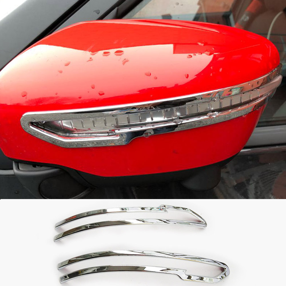 For Nissan Qashqai X-Trail Murano Rogue Juke 2014 2015 2016 2017 2018 Side Mirror Cover Chrome Trim Turn Signal Light Molding