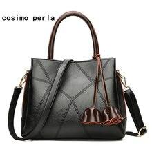 b574a9e3da1c Fashion Luxury Brand Designer Tassel Big Handbags Soft Leather Work Causal  Totes New Crossbody Bags for Women 2018 XMAS Gift