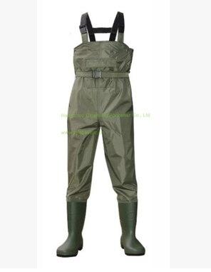 Europa Estilo Pantalones Hombre Transpirable Zancudas Pesca Waders Pecho Engrosamiento Impermeable de Nylon Pesca Lavado de Coches Ropa de Caza