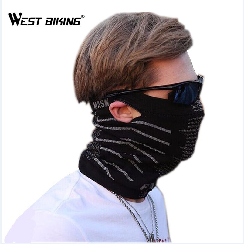 WEST BIKING Hanging Ears Bicycle Face Mask Multifunction Scarf Windproof Face Mask Portable Scarf Headgear Cycling Cap Masks