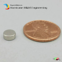 50 Pcs NdFeB Magnet Disc Dia 6x2 5 Mm N38H 0 157 Diametrically Magnetized Strong Magnet