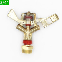 10pcs Zinc Alloy Rotary Watering Impact Sprinkler For Garden Lawn Sprayer Nozzle Micro Irrigation Hose End Sprinkler P105
