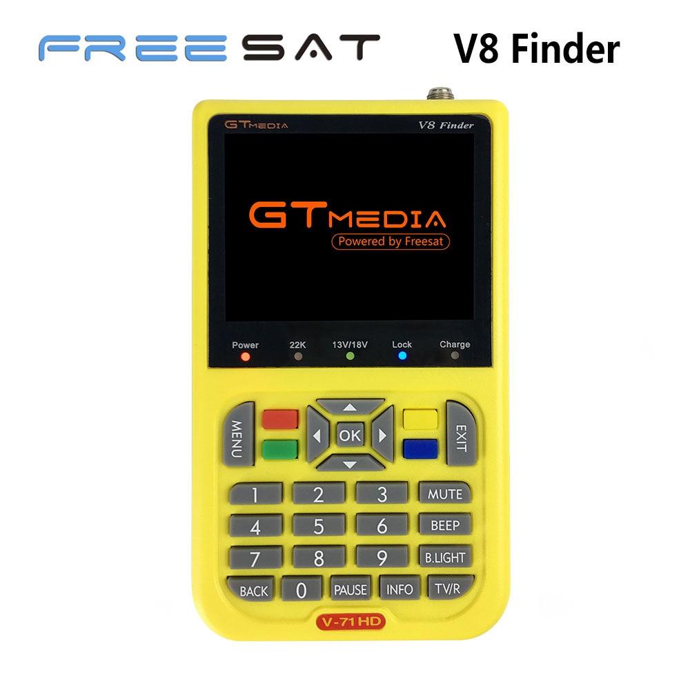 Freesat V8 Finder GTMEDIA HD DVB-S2 3.5 LCD High Definition Satellite Finder MPEG-4 DVB S2 Satellite Meter Satfinder Full 1080P gtmedia freesat v8 finder dvb s2 high definition satellite finder dvb s2 sat finder digital satellite meter 1080p hd satfinder