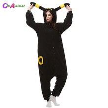 Adultos de lana Polar Kigurumi Umbreon Cosplay Pokemon traje de mono pijama  de Carnaval fiesta de fb80163b284a