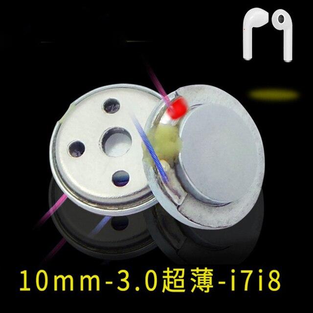 10 pcs 10mm ultra-thin Bluetooth headset speaker mini car Bluetooth headset unit watch Bluetooth headset speaker