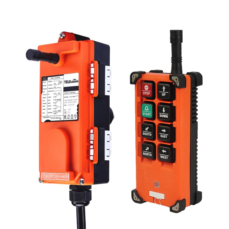 nice F21 E1B industrial universal radio wireless remote control distance for overhead crane AC/DC