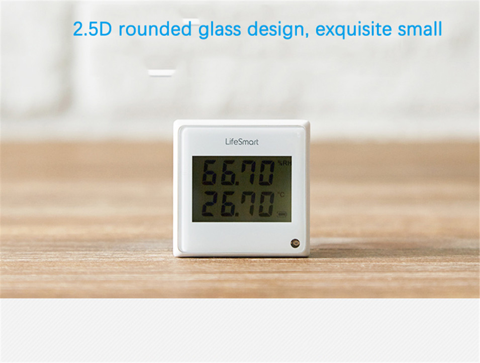 4 --- Lifesmart Multifunctional Environment Sensor 433MHZ Monitor Indoor Temperature, Humidity App Realtime View Remote Control by APP