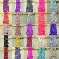 1 kg alta calidad hermosa colores estiramiento Encaje accesorios bilaterales Encaje Telas cinta boda Encaje