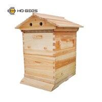 Пчеловодческий деревянный автоматический поток улья Apicultura улей для пчел и пчеловодства включает медосбор гребень основа