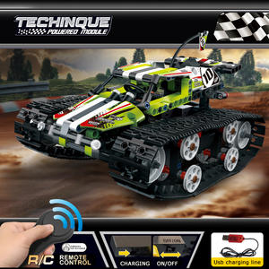 toy kid Technic Series The RC Track Remote-control Race Car Set Building Blocks Bricks Educational Toys Compatible with Legoings
