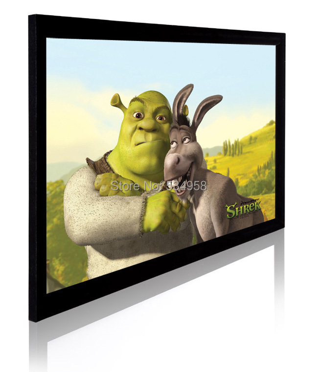 10016:9 Fixed Frame Projector Screen with HD Flexible White/Grey surface full hd 190 inch 16 9 curved fixed frame front projection screen with 1 2 gain 3d cinema projector screens