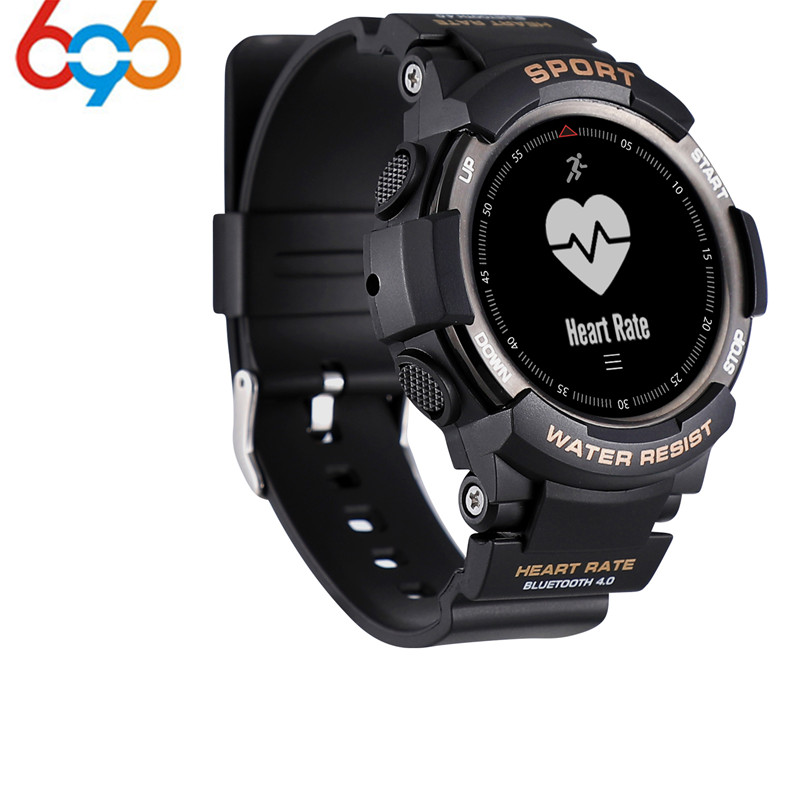 2018 nuevo n° 1 F6 Smartwatch IP68 impermeable Bluetooth 4,0 Monitor dinámico de ritmo cardíaco Smart watch para Android Apple Smart pho