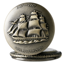 Sailing Canvas Ship Pocket watch