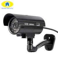 Waterproof Outdoor Indoor Fake Camera Security Dummy CCTV Surveillance Camera Night CAM LED Light Black Color