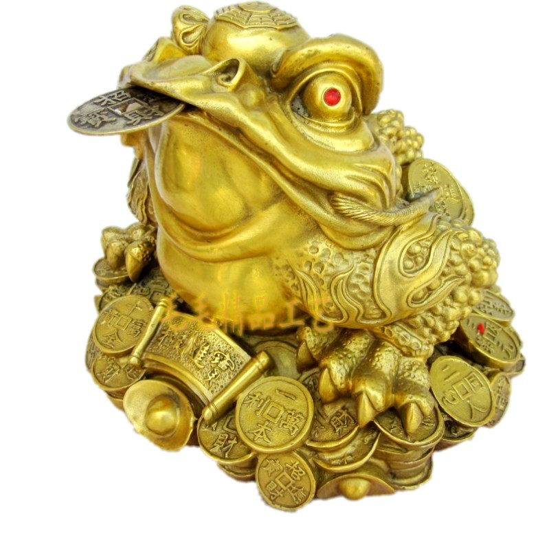 Toad toad cicada Zhaocai copper ornaments business gifts Zhaocai furnishingsToad toad cicada Zhaocai copper ornaments business gifts Zhaocai furnishings