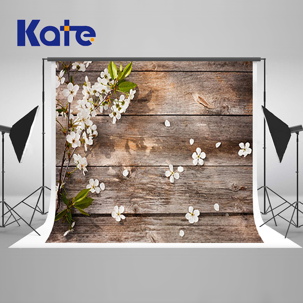 ФОТО 10X10FT Kate Wite Flores Wood Photography Backdrops Wood for Wall Flores Photocall Para Bodas Atrezzo Fotografia Infants