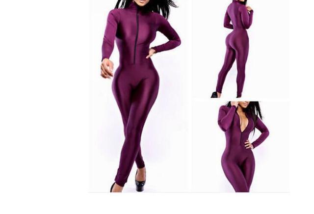 New Autumn Winter Womens Zipper Bodycon Bandage Jumpsuit Romper Bodysuit Playsuit Catsuit Sexy Lady Slim Pants