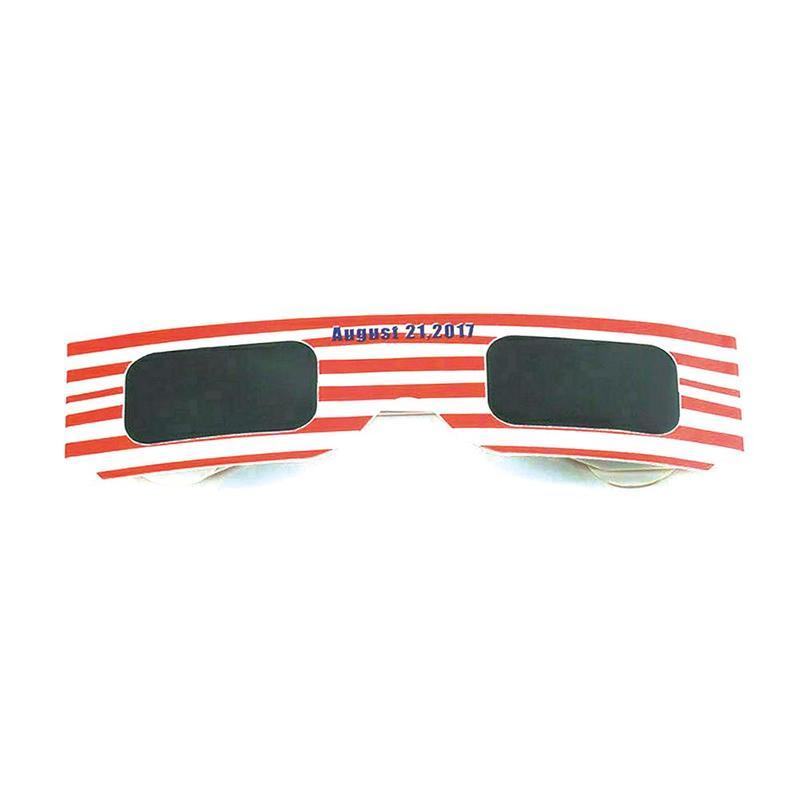 5pcs Solar Eclipse Glasses Eclipse Viewing Glasses Oaks Black Polymer