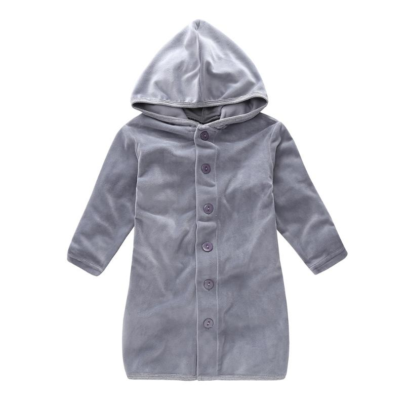 Spring Children Casual Home Clothes Kids Boys Girls Robes Nightgown Hooded Soft Warm Long Pajamas
