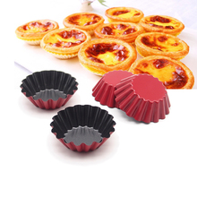 12 Pack Vibrant Round Reusable and Nonstick Cupcake and Muffin Baking Cup, Red(China)