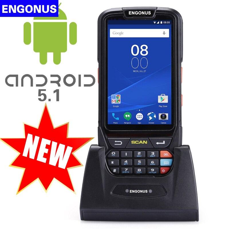 Портативный Ручной 1D/2D сканер NFC сканера штриховых кодов Беспроводной RFID высокоскоростной лазерный свет сканирования КПК 4 г сети
