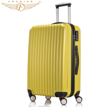 1 Piece yellow 2016 NEW 20 24 Inches Hardside ABS PC Travel Luggage Suitcase Upright Durable Spinner 4 Wheels Fochier