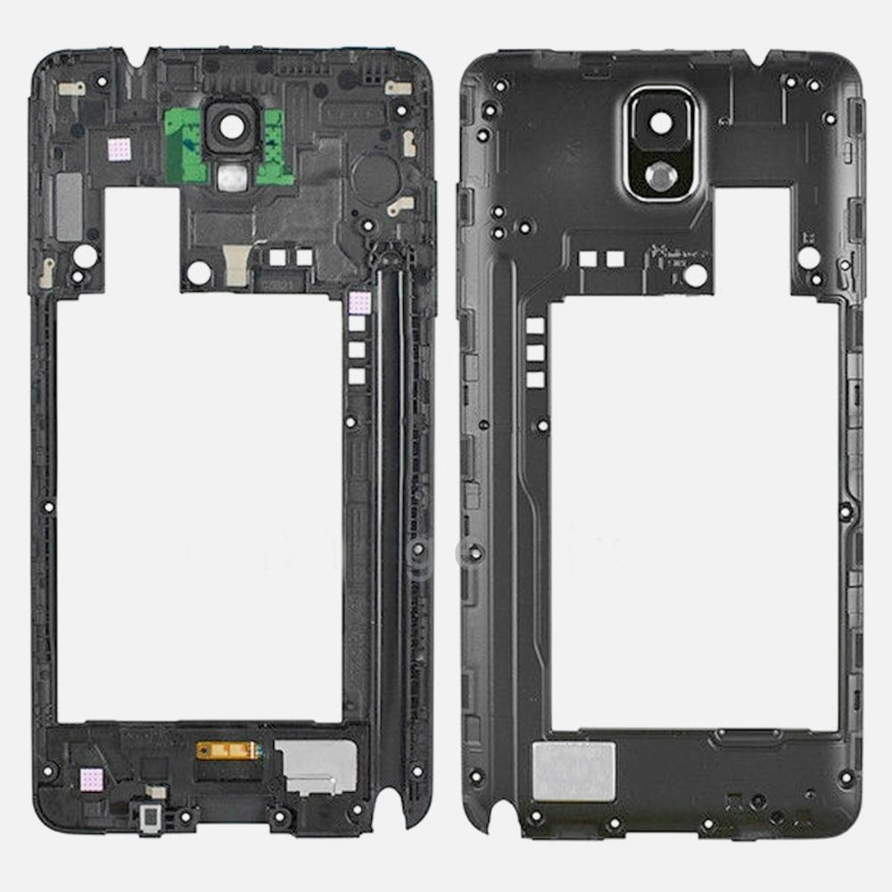For Samsung Galaxy Note 3 3G SM-N900/N9005/N900A/N900V Rear Frame With White/Black/Pink/Gold White/Gold Black Color Camera Lens