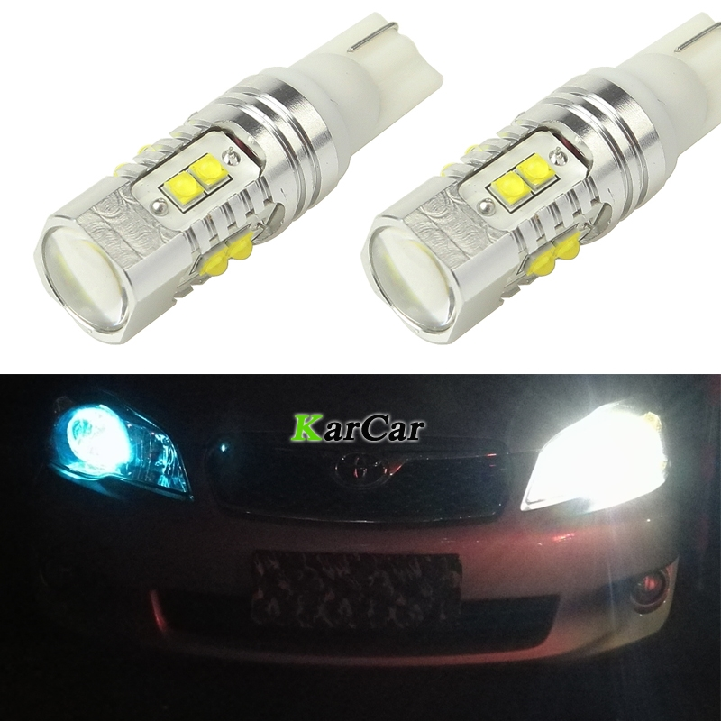 650LM T10 194 921 CREE Chip XBD 50W LED Tail Light 912 Reverse Lights 161 Brake Lamp, 12V 168 Clearance Light W5W Stop Bulbs katur 2pcs t15 w16w led reverse light bulbs 920 921 912 canbus 4014 45smd highlight led backup parking light lamp bulbs dc12v