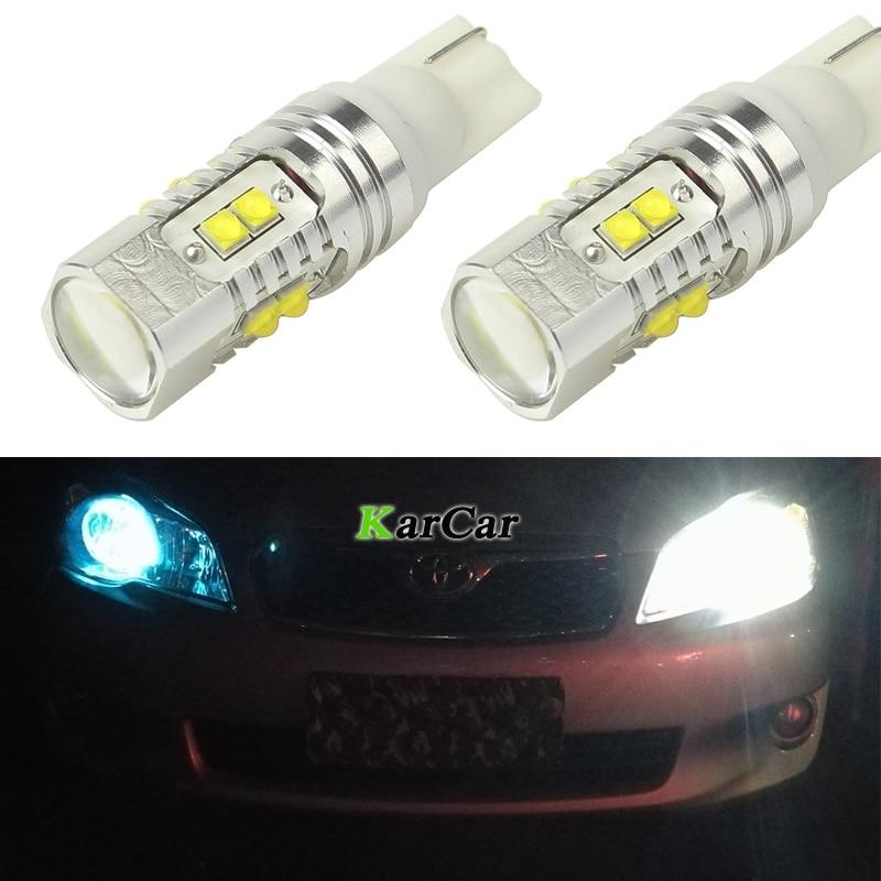 SENZEAL Canbus Daya Tinggi T10 W5W Luar Biasa Terang XBD 50 W Ekor LED Mobil 912 Reverse Lampu Rem Lampu 12 V 168 Untuk Lampu Parkir
