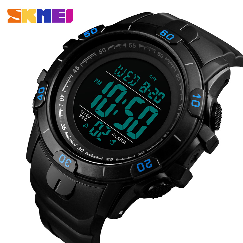 SKMEI Digital Wristwatches Waterproof Alarm-Clock Inteligente Luminous-Sport Reloj Gift