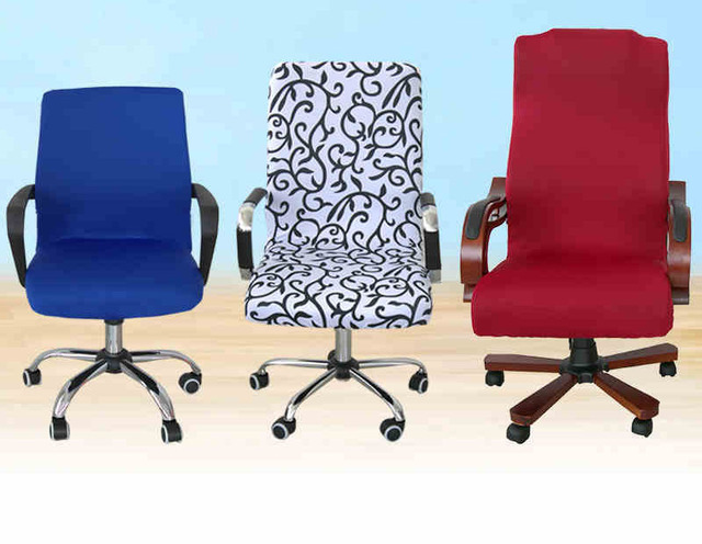 swivel chair covers joey steel office computer cover armrest seat fabric stool set one piece elastic