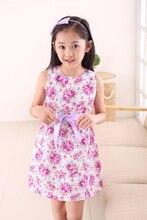 Retail Fashion Kids White Red Bow Trendy Flower Vestidos Infantis Dress Girls Summer Birthday Party Flower Princess Dress 3-12y
