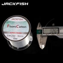 JACKFISH 500M Fluorocarbon fishing line 5-30LB Super strong brand Main Line clear fly fishing line pesca